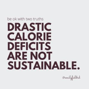 Drastic calorie Deficit 2