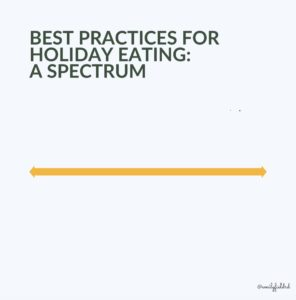 holiday eating spectrum